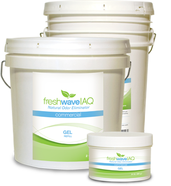 Odor eliminating gels by Fresh Wave IAQ